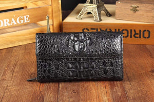 Crocodile Skin  Leather   Trifold   Wallet For Men