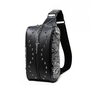 Fashion 3D Punk Rivets  Backpack  Travelling Rucksack  Computer Bag Without  Hat