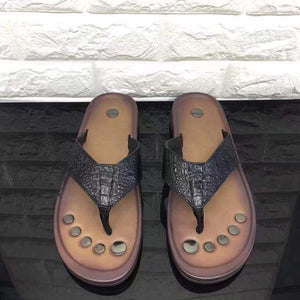 Genuine Crocodile Leather Flip Flop