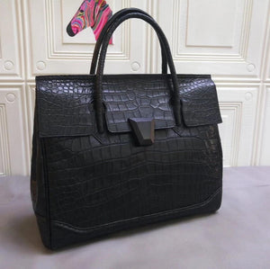Genuine Crocodile Leather Large Tote Briefcase Business Bag