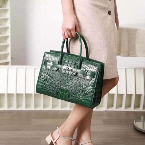 Genuine Crocodile Leather Womens Tote Shoulder Bags