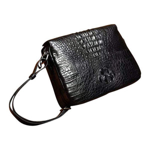 Genuine Crocodile Skin Leather Shoulder Messenger  Cross body Bag