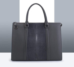 Genuine Stingray Leather Briefcase For Men