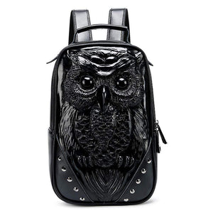 Hip Hop 3D Owl Backpack, Girls Fashion Owl Backpack