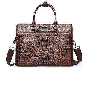 Men's Crocodile Leather  Briefcase ,Crocodile Shoulder Bag ,Cross body,Laptop ,Messenger Bag
