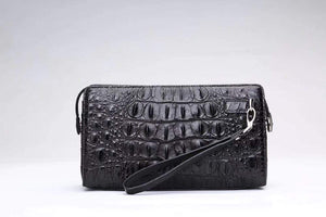 Mens Classic Genuine Crocodile Leather With Password Code Lock