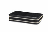 Mens Double Zipper Clutch Bags Crocodile Leather Men's Wallet Handy Long Wallets Black