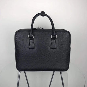 Ostrich Leather Briefcase,Ostrich Leather Business Designer Bag