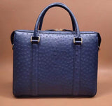 Unisex Classic Genuine Ostrich Leather Briefcase