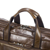 Vintage Solid Color Multi-Functional Men's Business Leather Cross Bag ,Large Volume Casual Handbags