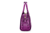 Womens Crocodile Leather Shoulder Tote Bag