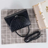 Womens Genuine Crocodile Top Handle Messenger Bags