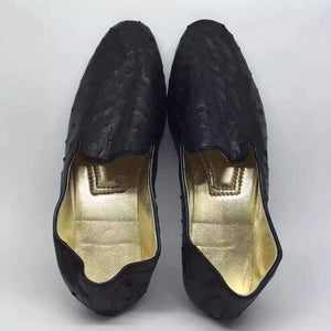 Womens Genuine  Ostrich Leather Shoes