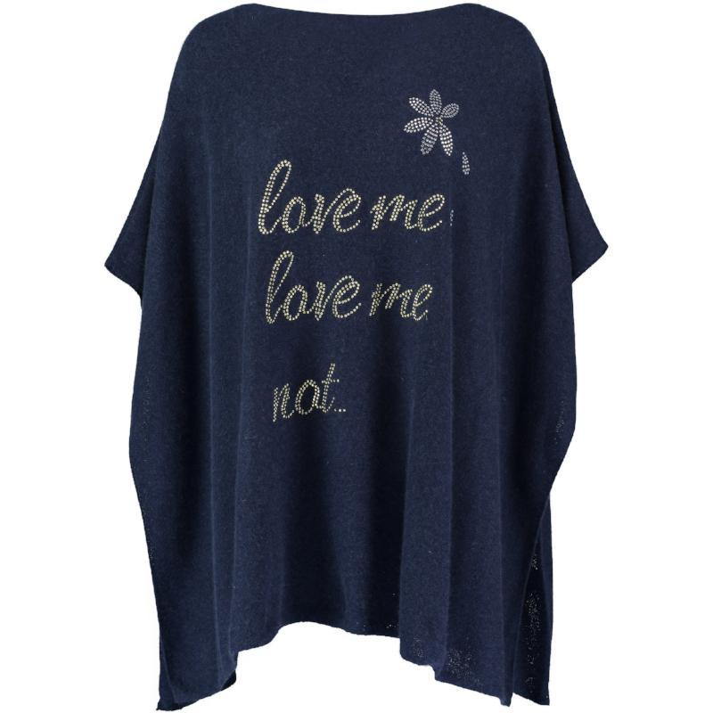 Boat Neck Cashmere Poncho LOVE ME, LOVE ME NOT...