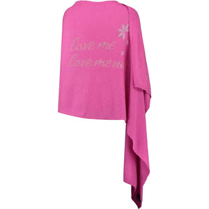 XL Chunky, knitted cashmere travel wrap LOVE ME, LOVE ME NOT...