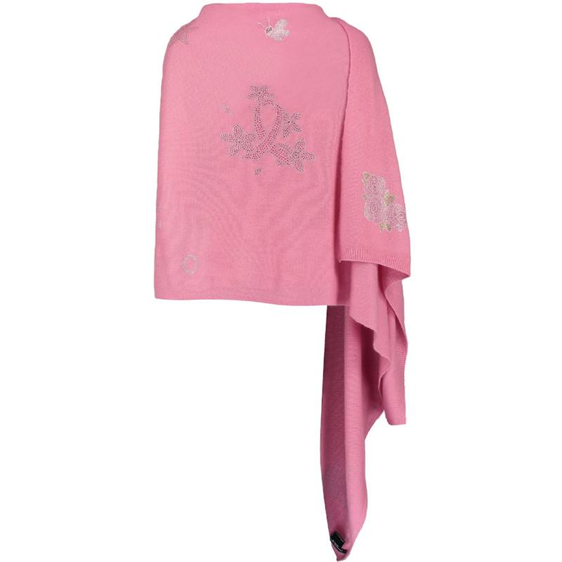 XL Chunky, knitted cashmere travel wrap #LOVEPINK
