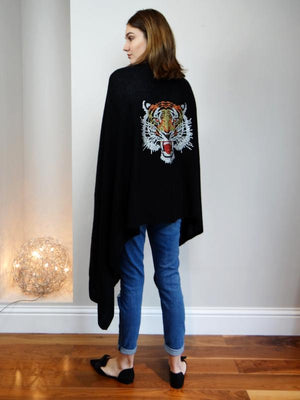 XL Cashmere Travel Wrap ROARING TIGER