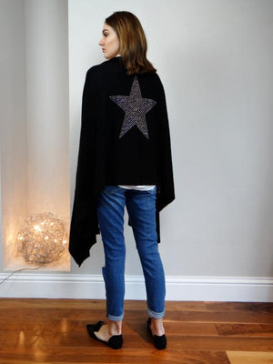 XL Cashmere Travel Wrap THREE STARS | ice white