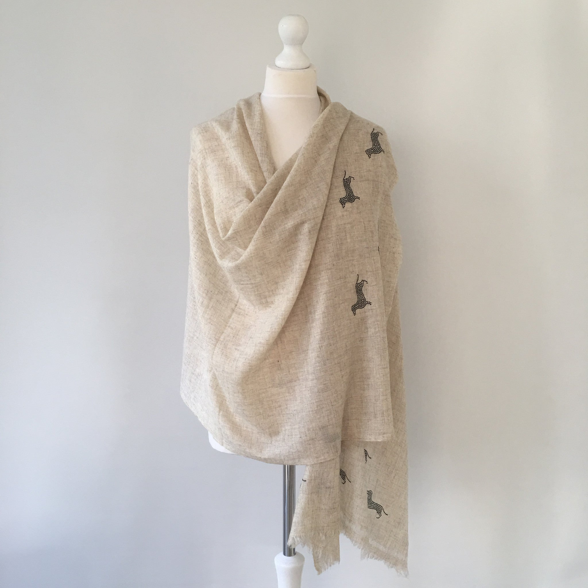 Light woven cashmere scarf DAXIE