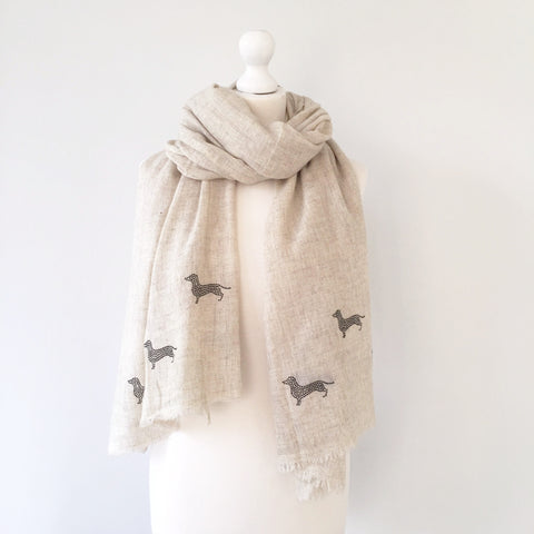 Light woven cashmere scarf | off white | DAXIE