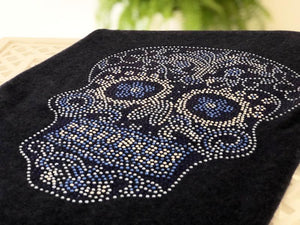 CRYSTAL SKULL cashmere travel wrap by cashmere rebel london