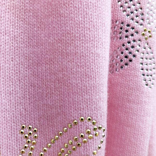 Pale pink XL Chunky, knitted cashmere travel wrap LOVE ME, LOVE ME NOT by Cashmere Rebel