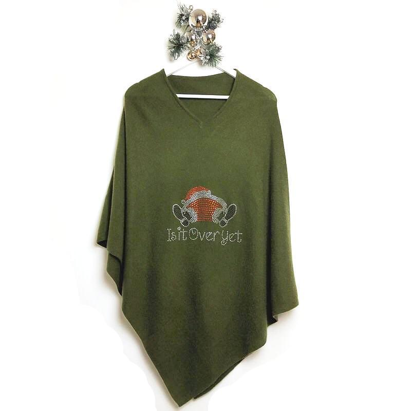 Christmas sweaters are over. This year it is time for the Christmas Poncho made of cashmere