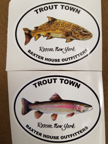 Trout Town Stickers