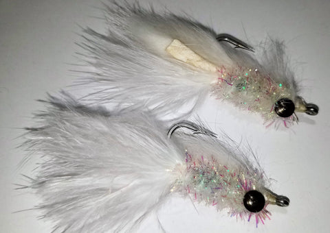 White Bait Streamer Fly SELECTION, Saltwater White Bait, Fresh Water White Bait, Schminnow Fly