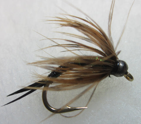 Bead Head Wired Soft Hackle Nymphs - BLACK