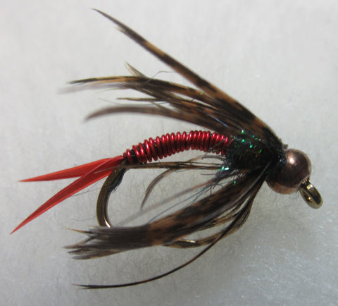 Bead Head Wired Soft Hackle Nymphs RED
