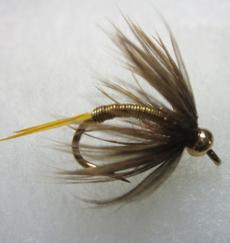 Bead Head Wired Soft Hackle Nymph Yellow / Golden