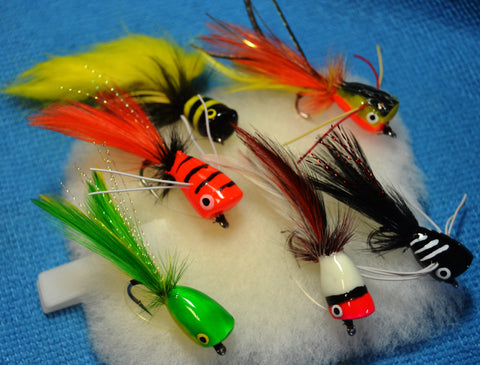 Bass Poppers, Popper Flies - 6 POPPER SELECTION