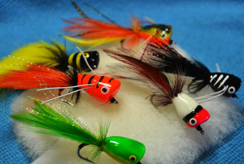 Bass Popper Red-White Size 6