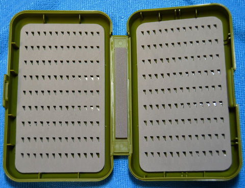 Fly Box -  Anglers Image  -  Triangle Slit Foam - 3 Sizes  - Olive