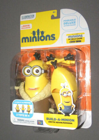 MINIONS Movie Arctic Kevin Banana Build A Minion Deluxe Poseable Action Figure