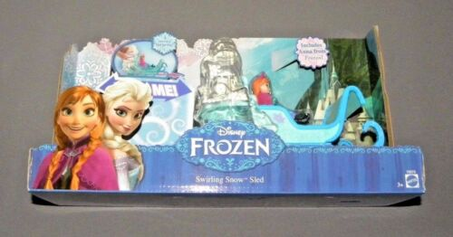 Disney Frozen Swirling Snow Sled Vehicle w Anna Figure Movie