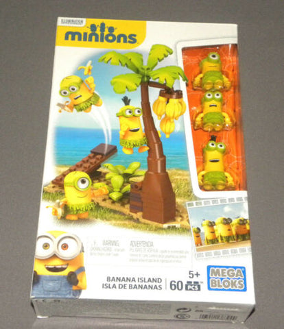 MINIONS Movie Banana Island Mega Bloks CNN55 Minion Figure Construction Set