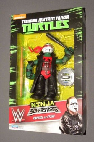WWE Ninja Superstars Raphael as Sting Ninja Turtles Figure