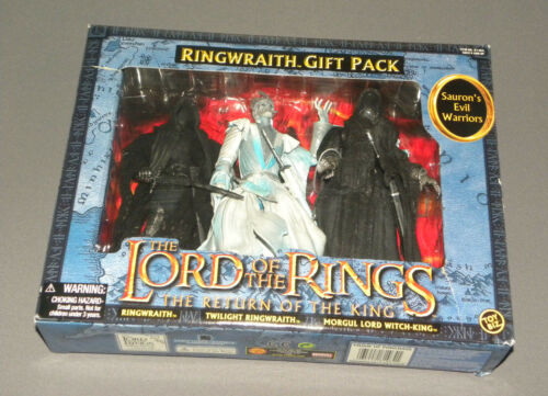 Lord of the Rings Ringwraith 3 Figure Set Gift 5 Pack w Twilight, Morgul Lord