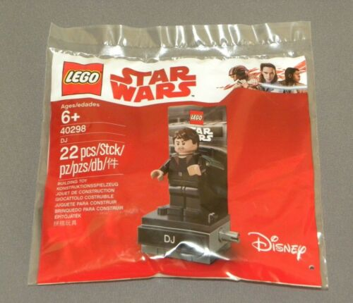 Star Wars Exclusive DJ Minifigure LEGO 40298 The Last Jedi Polybagged Set