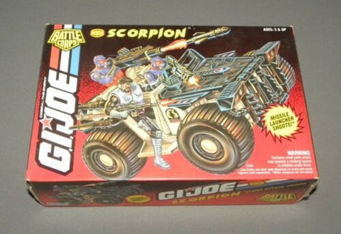 Vintage GI Joe Scorpion Battle Corps Desert Attack Vehicle MISB Sealed