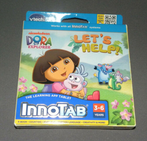 Innotab 2, 3 Dora the Explorer Let's Help Game Software e-Book Vtech NEW