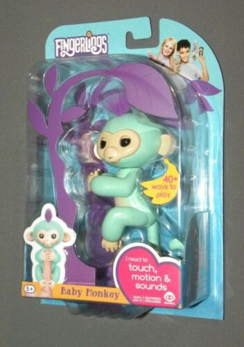 Fingerlings Zoe Teal / Purple Baby Monkey Interactive Figure NEW