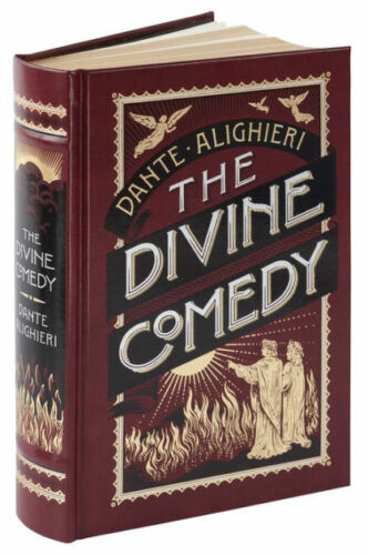Dante's The Devine Comedy Hardcover Leather Book NEW