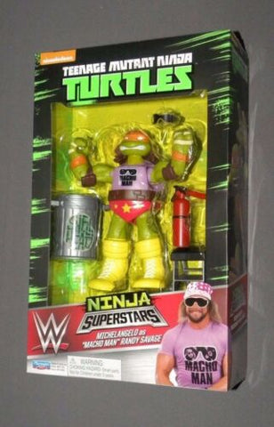 WWE Ninja Superstars Michelangelo as Macho Man Randy Savage Ninja Turtles Figure