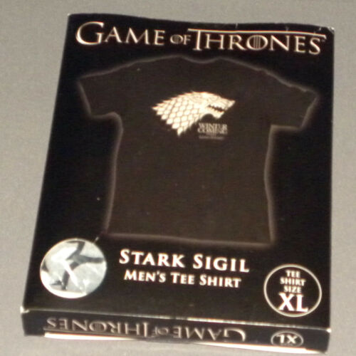 HBO's Game of Thrones Stark Direwolf Sigil T-Shirt Mens Extra Large XL Black NEW