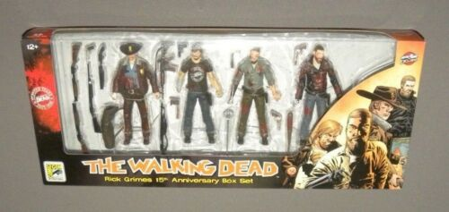 The Walking Dead Rick Grimes 15th Anniversary Box Set Bloody SDCC Exclusive