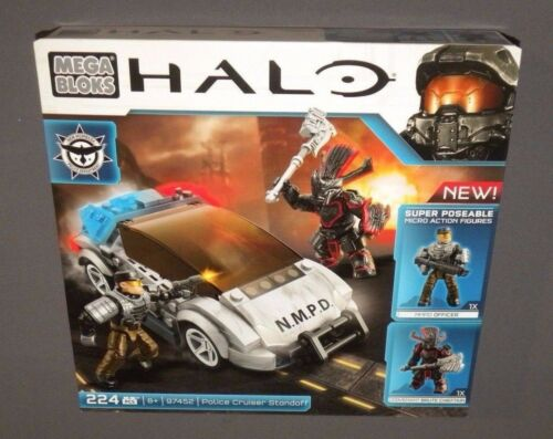 Mega Bloks HALO Police Cruiser Standoff Set 97452 Car w NMPD Officer NEW