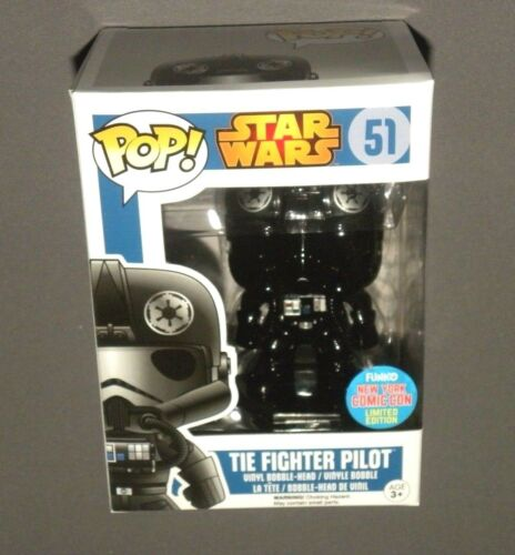 POP! NYCC Chrome TIE Fighter Pilot Vinyl Bobble Head Figure 2015 Star Wars